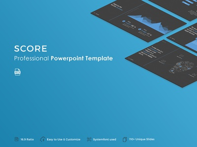 Score Powerpoint Template slide professional pptx template presentation powerpoint portfolio popular modern creative corporate business