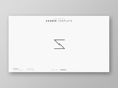 Sauber Powerpoint Template start up presentation pptx powerpoint template powerpoint portfolio pitch deck minimal marketing creative corporate business