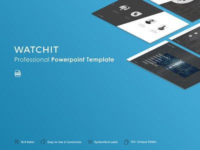 Watchit Powerpoint Template template slide professional presentation pptx powerpoint portfolio popular modern creative corporate business