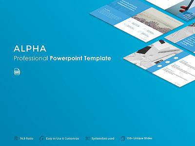 Alpha Powerpoint Template start up presentation pptx template powerpoint portfolio pitch deck minimal marketing creative corporate business