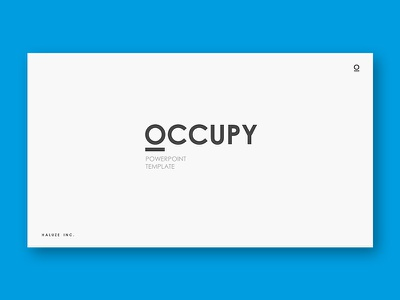 Occupy Powerpoint Template start up presentation pptx template powerpoint portfolio pitch deck minimal marketing creative corporate business