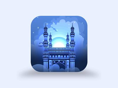Hyderabad App Icon icon app for illustration