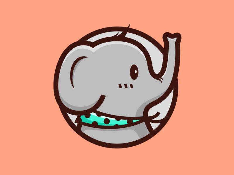 Elephant_🐘 animal color baby cute elephant