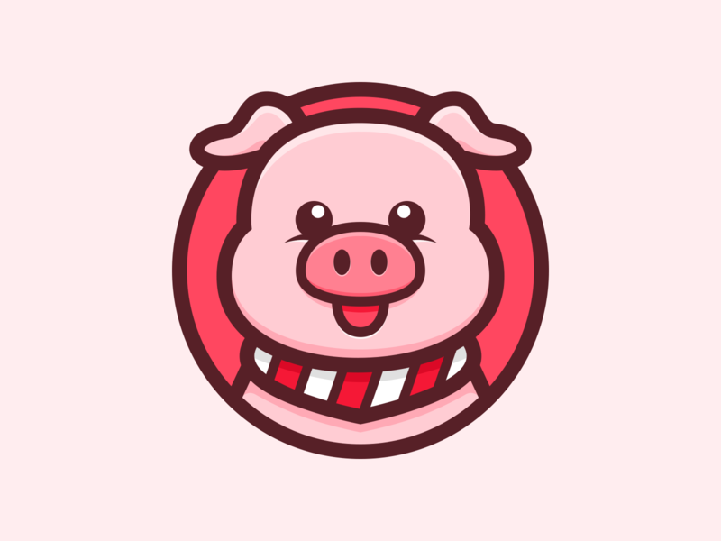 Pig_🐖 illustration pink cute animal pig