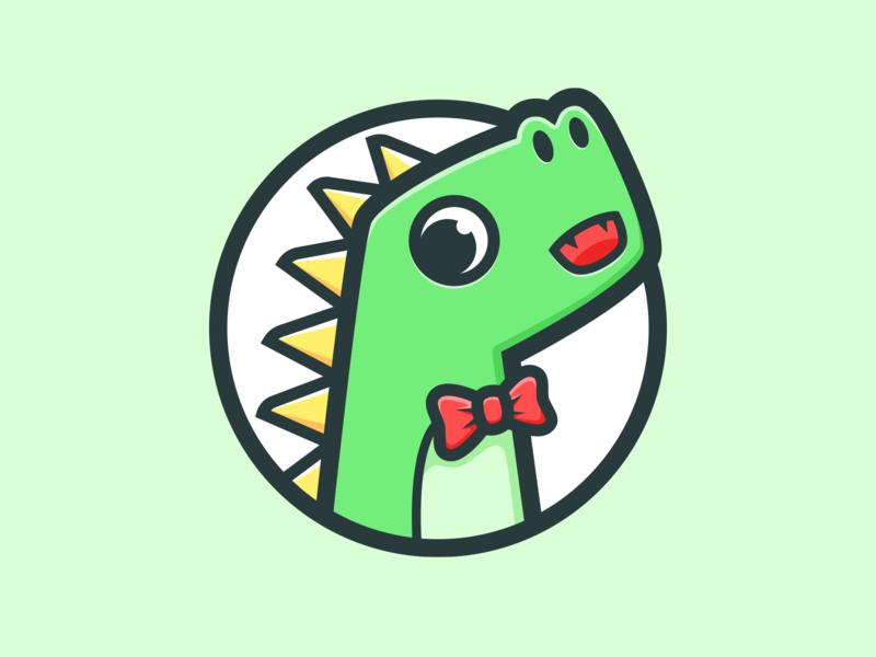 Dinosaur_🐛 animal illustration color green dinosaur