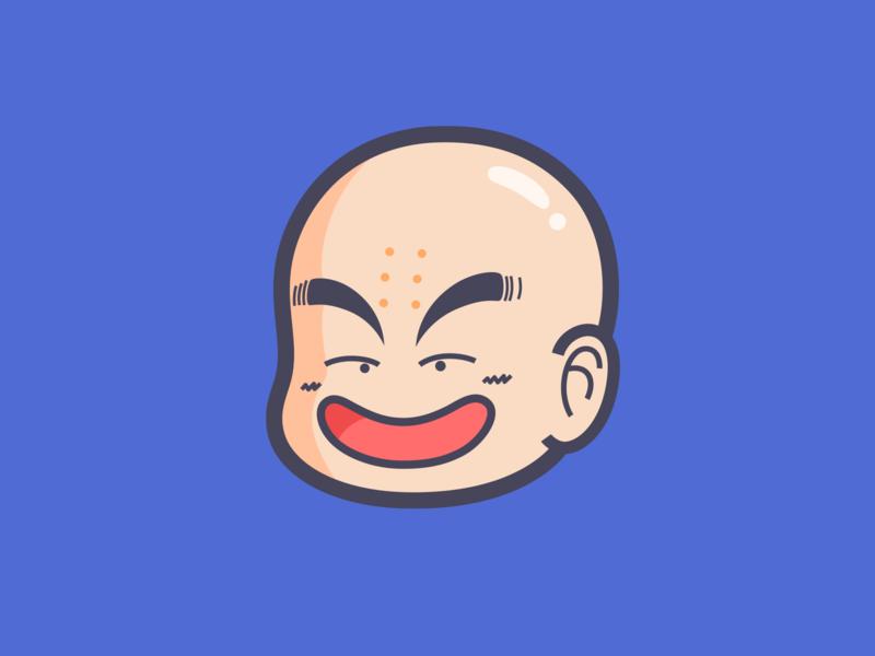 DRAGON BALL-Kuririn japan cartoon dragonball kuririn moon