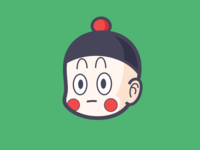 DRAGON BALL-Chiaotzu japan cartoon chiaotzu dragonball
