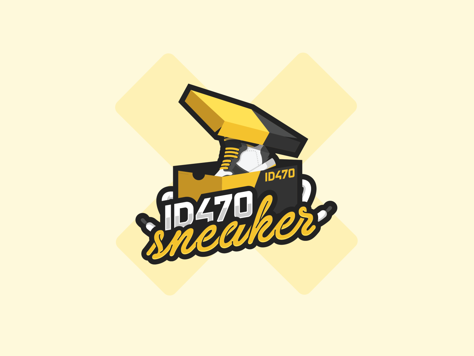 ID470 Sneaker logo by FlowBackward on