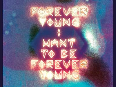 Typolyrics typography lyrics alphaville forever young schoolproject