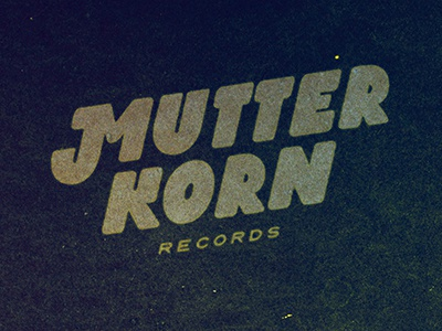 Mutterkorn Records mutterkorn records label music logo typography custom type schoolproject