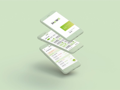 ihawk minimal app tracking app mobile app design branding app vector ui ux design product design enterprise application
