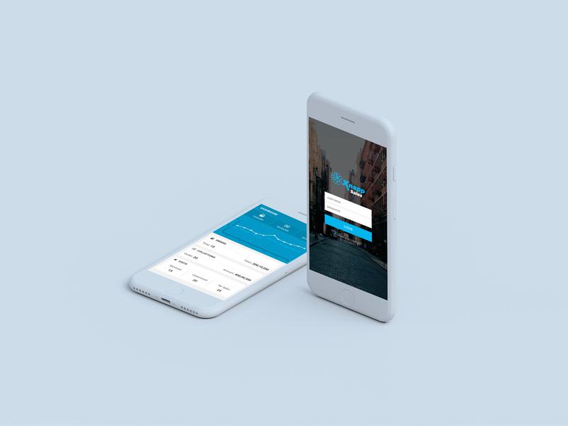 Xnapp Sales mobile app design ios type enterprise application typography tracking app logo dashboard minimal app product design minimal vector branding ux ui design app