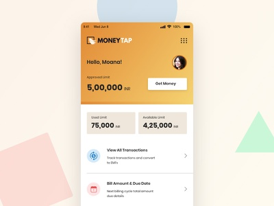 Money Tap Landing Page Redesign Concept redesign concept finance app fintech illustration icon mobile app design flat dashboard tracking app typography minimal app product design minimal branding vector ux ui design app