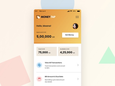Money Tap Landing Page Redesign Concept