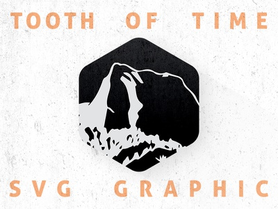 Tooth of Time freebie scouting vector scenery mountain ai svg philmont backpacking