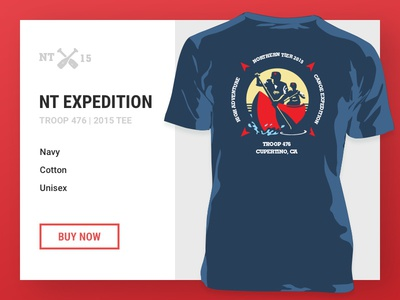 NT Expedition Tee freebie t-shirt template illustrator clothing canoe tee scouts