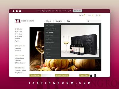 TastingRoom.com Relaunch  ecommerce tasting sauvignon blanc cabernet sauvignon wine