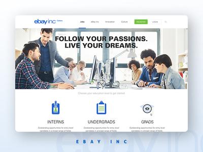 eBay Careers careers webdesign corporate blue ebay
