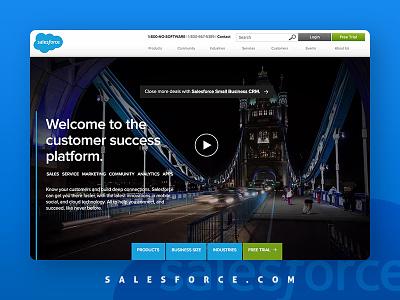 Salesforce Home Page video conversion engagement corporate dreamforce rebranding salesforce