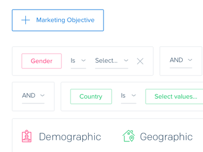 Thy Fair Filters selection audience advertising filters web ui marketing