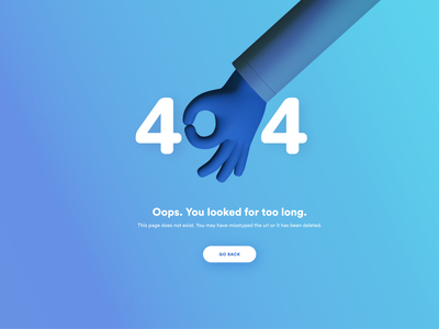404 Page Design 404 page illustration 3d interface ui design webdesign