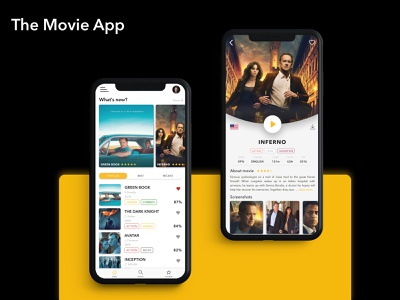 Second concept od Movie App icon flat concept user interface illustration flatdesign iphone clean application sketch vector films movies movie app ux ui mobile design mobile app appdesign app