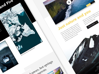 Little sneak peak of Iceland Travel Page - Part II website design wireframe webdesign web ux ux ui user interface travelling travel story landingpage sketch landing mountains sky iceland concept clean animation adventure