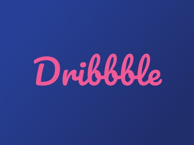 Dribbble Logo typographic text best basket shots shot dribbble best shot font typography branding sketch concept illustration vector clean pink blue dribble dribbble logo