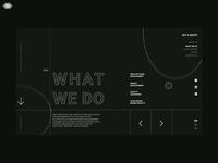 Corporate website dark design development minimal web design interface interaction animation ux ui corporate website
