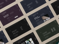 Corporate website corporate website design minimal ux ui