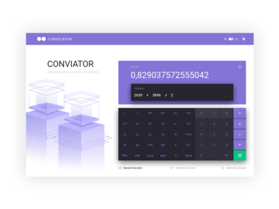 Conviator (online calculator & currency conversion)