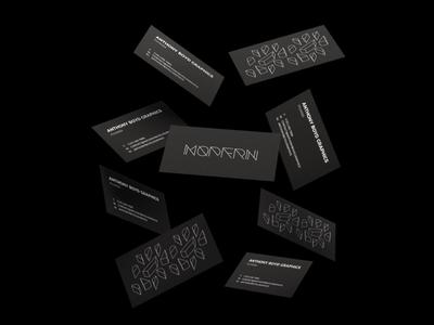 Modern - Brand Identity geometry line ui design visual identity brand brand identity font typography minimal architecture modern business card logo identity branding