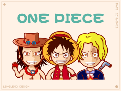 One Piece_Three Brothers illustration