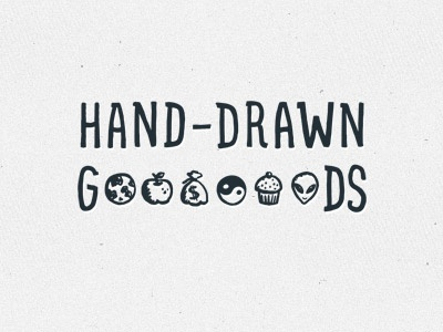 Hand-Drawn Goods hand-drawn handdrawn icons ui doodle sketch notes pictogram logo pen pencil