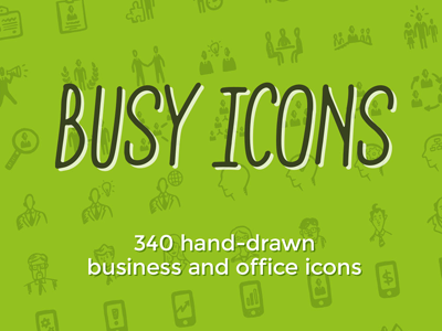 Busy Icons hand-drawn icons ui business management startup doodle sketch
