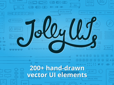 Jolly UI Logo icons lettering calligraphy hand-drawn typo ui logo ui kit ui elements sketch