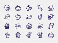 Spooky Icons — hand-drawn Halloween icons