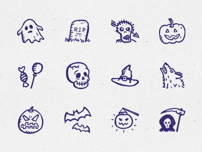Spooky Icons Free – 12 hand-drawn Halloween icons free freebie hand-drawn ghost vampire scary halloween pumpkin holiday icons hand-drawn icons doodle sketch