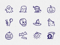 Spooky Icons Free – 12 hand-drawn Halloween icons