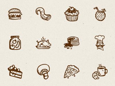 Tasty Icons – 500 hand-drawn food icons hand-drawn food food icons handdrawn restaurant kitchen hand-drawn icons hand-drawn vectors doodle sketch