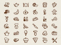 Tasty Icons Free – 36 hand-drawn food icon