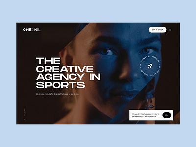 Onenil.com - Website interactive web animation space sports portfolio site agency portfolio website design website design