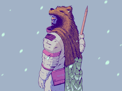 Far From the Moon - Character Design character design game survivor snow winter astronaut