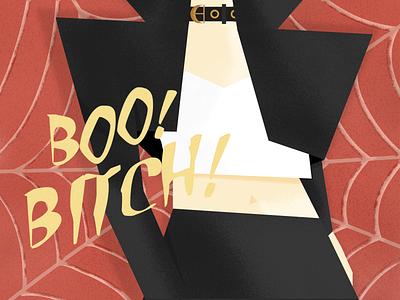 Boo! Bitch! Pt 1. halloween kim petras music grain design illustration graphic desgin brazil