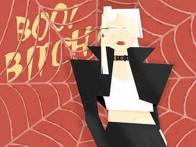 Boo! Bitch! Pt 2. graphic design halloween kim petras music texture grain vector design illustration brazil