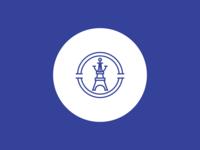 La Cruise Paris - Logo Concept concept design mark minimalist identity branding logo restaurant cruise anchor blue eiffel paris
