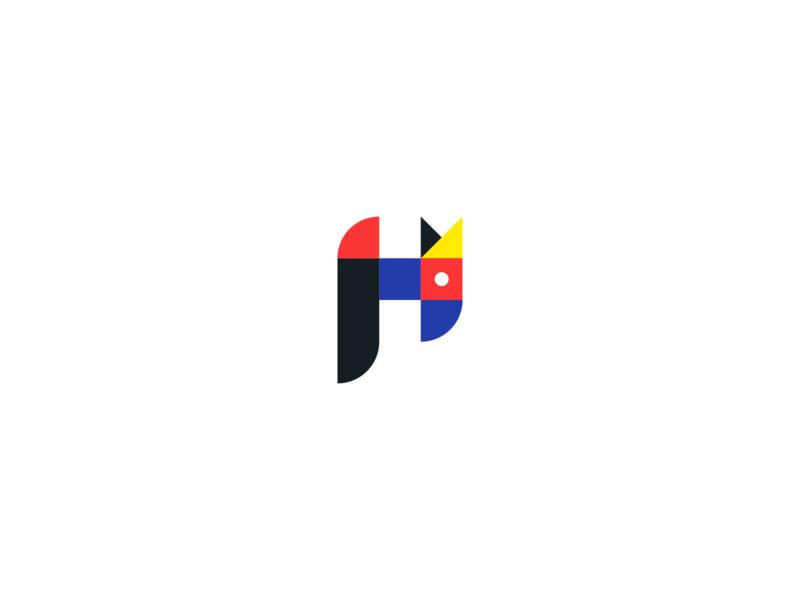 Herslf Logo design brand female modern minimalist icon logo design colorful woman yellow black red blue brand identity mark identity designer freelancer logo branding