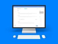 Project management web app design