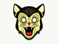Plastic Horror - Black Cat Mask