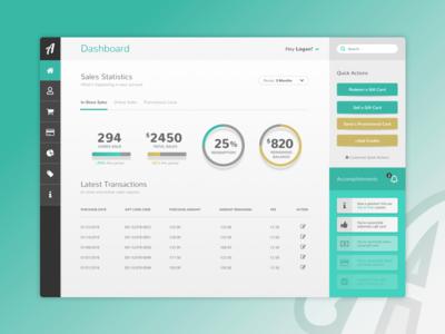 Virtual Gift Card Platform -  Dashboard